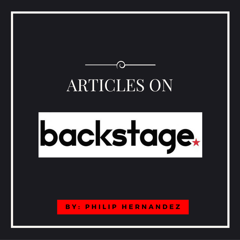 articles from backstage by Philip Hernandez