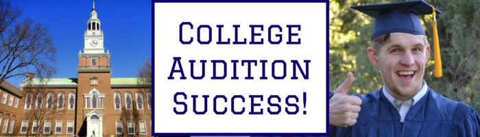 college audition success
